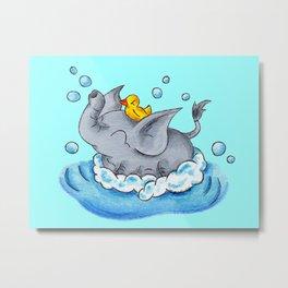 Bubble Bath Buddy Metal Print