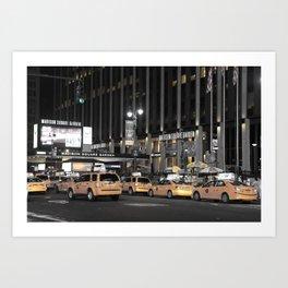 NY Taxis Art Print