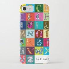 Hand Drawn Alphabet Slim Case iPhone 7