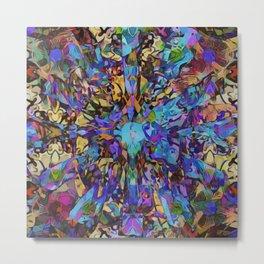 Purple Insanity Metal Print
