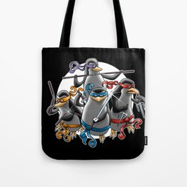 Ninja Penguins Tote Bag