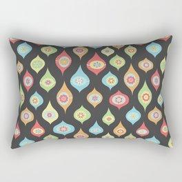 Mod Ornaments Dark Rectangular Pillow