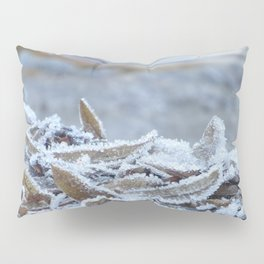 Winter leaves by the River Trebbia Pillow Sham