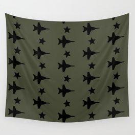 F-18 Hornet Fighter Jet Pattern Wall Tapestry