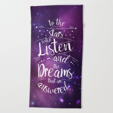 ACOMAF- To the Stars Who Listen And the Dreams that are Answered Beach Towel
