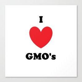I Love GMO's Canvas Print