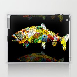 FATHER  LIKES FISH AND BOURBON POP ART Laptop & iPad Skin