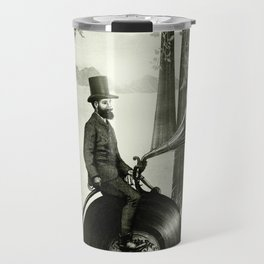 Music Man in the Forest, by Eric Fan and Viviana González Travel Mug