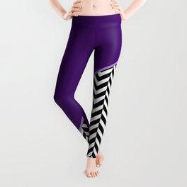 Chevron and Purple Print Leggings