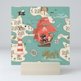 Purr Island and Adventures of Captain Sam n Matey Mini Art Print