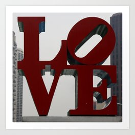 Love Philadelphia Sculpture Art Print