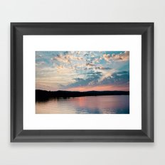 Sunrise over Beaver Framed Art Print