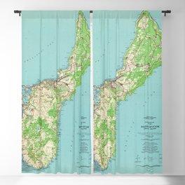 Vintage Guam Map (1965) Blackout Curtain