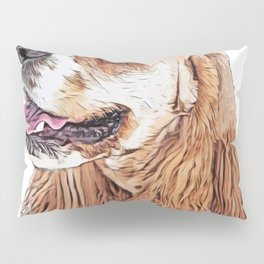 Dog Cocker Spaniel English noteworthy pups compactly built Pillow Sham