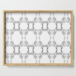 Hand drawn Seed Pods Pattern Serving Tray