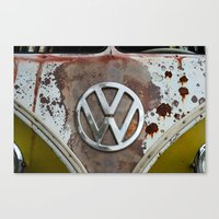volkswagen Canvas Prints featuring volkswagen by Aaron Joslin Photography