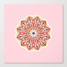 Mandala Pink Canvas Print