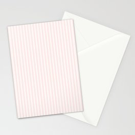 Classic Small Pink Rosebud Pastel Pink French Mattress Ticking Double Stripes Stationery Cards