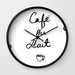 Cafe Au Lait Wall Clock