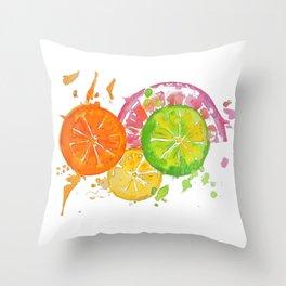 Citrus Burst! Throw Pillow