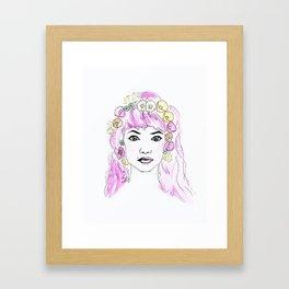 Imogen with Flower Crown Framed Art Print