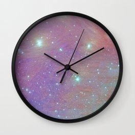 Cotton Candy Pleiades Wall Clock