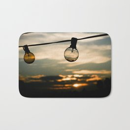 Unlit Sunset.  Bath Mat