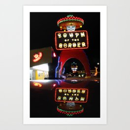 South of the Border: Reflections Art Print