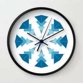 2 - blue mandala Wall Clock