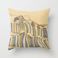 tumblr Throw Pillows featuring Ocean of love by Huebucket