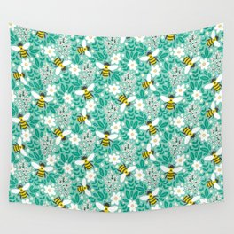 Blooms & Bees Wall Tapestry