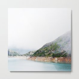 Valais mountain dam Metal Print