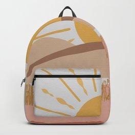 Bright Yellow Sun Backpack
