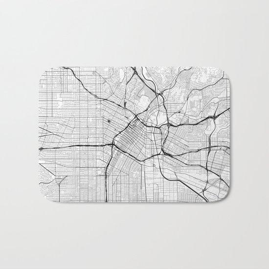 Los Angeles Map Gray Bath Mat