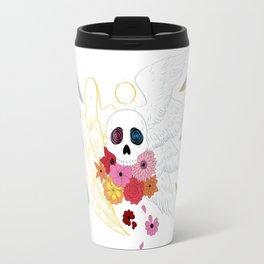 Feathers and Flowers Travel Mug