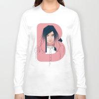 bjork Long Sleeve T-shirts featuring B of Bjork by David Alegria