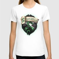 slytherin T-shirts featuring Slytherin Crest by Sharayah Mitchell