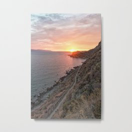 Vertical sunset Metal Print