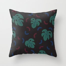 Monstera Pattern Throw Pillow