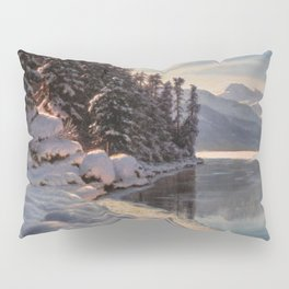 Winter Sunrise Lakeside in the Mountains by Ivan Fedorovich Choultsé Pillow Sham