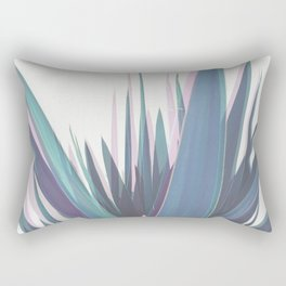 Holographic Leaves Rectangular Pillow