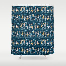 Sisterly riding the world together Shower Curtain