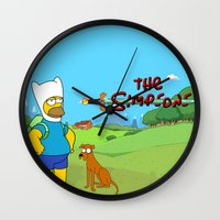simpsons Wall Clocks featuring The simpsons Time by Lexatchison