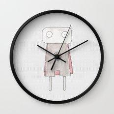 Robot superhero Wall Clock