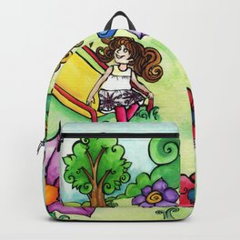 Girls play Backpack