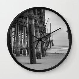Newport Gull in Grey Wall Clock