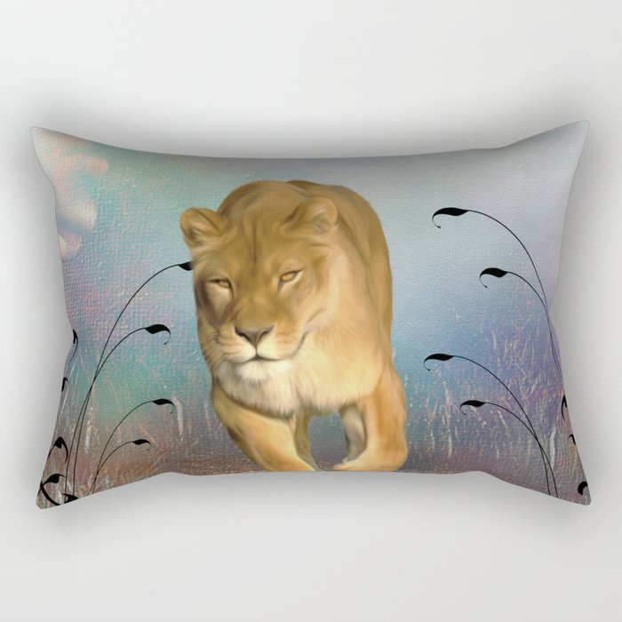 Wonderful wolf Rectangular Pillow