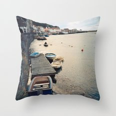 Whitby Row Boats Throw Pillow