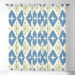 Mid Century Modern Atomic Triangle Pattern 104 Blackout Curtain