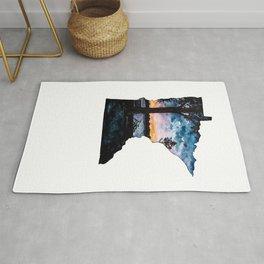 Minnesota State Silhouette Summer Rug